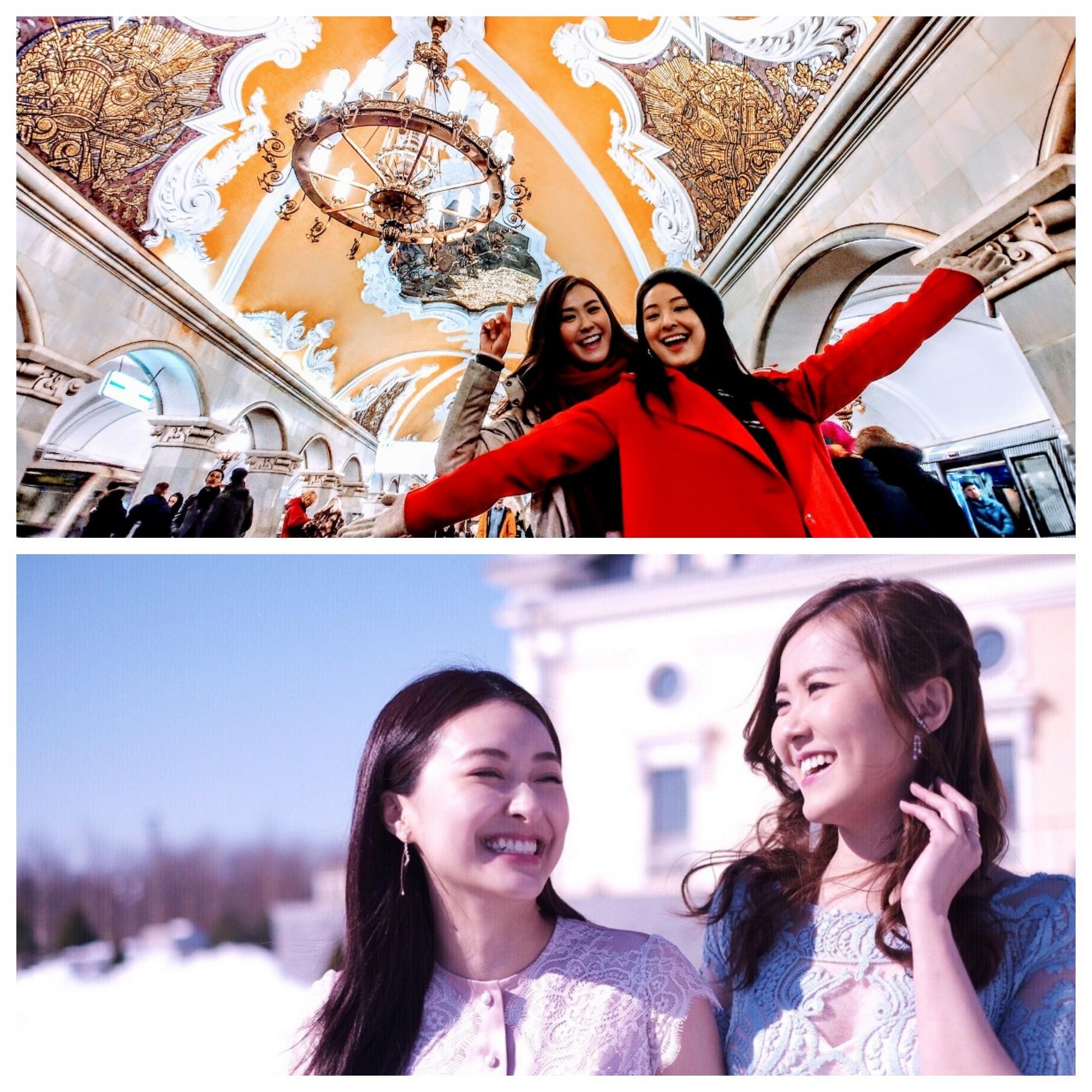 她們今次去了著名景點參觀,包括莫斯科的紅場以及聖巴索大教堂。