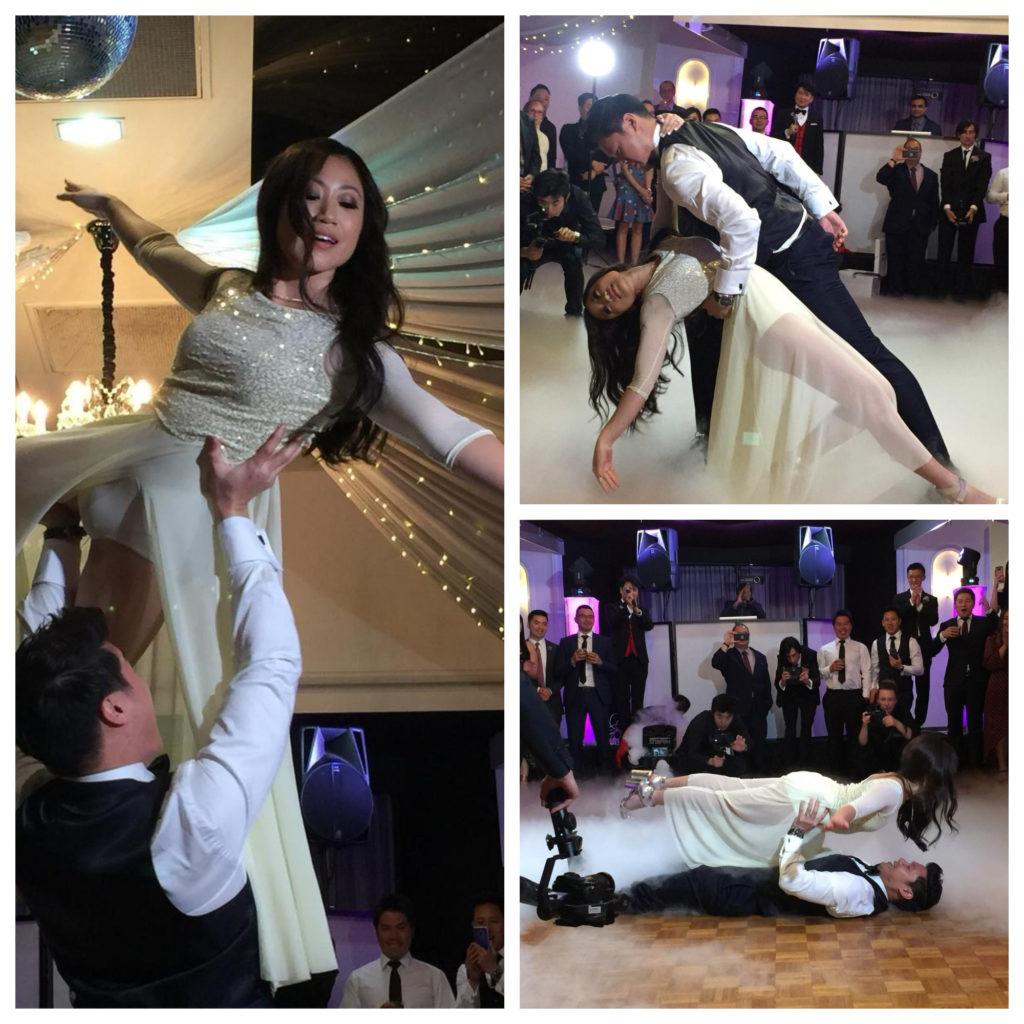 廖安麗的女兒和女婿的舞蹈給媽媽很大的驚喜。