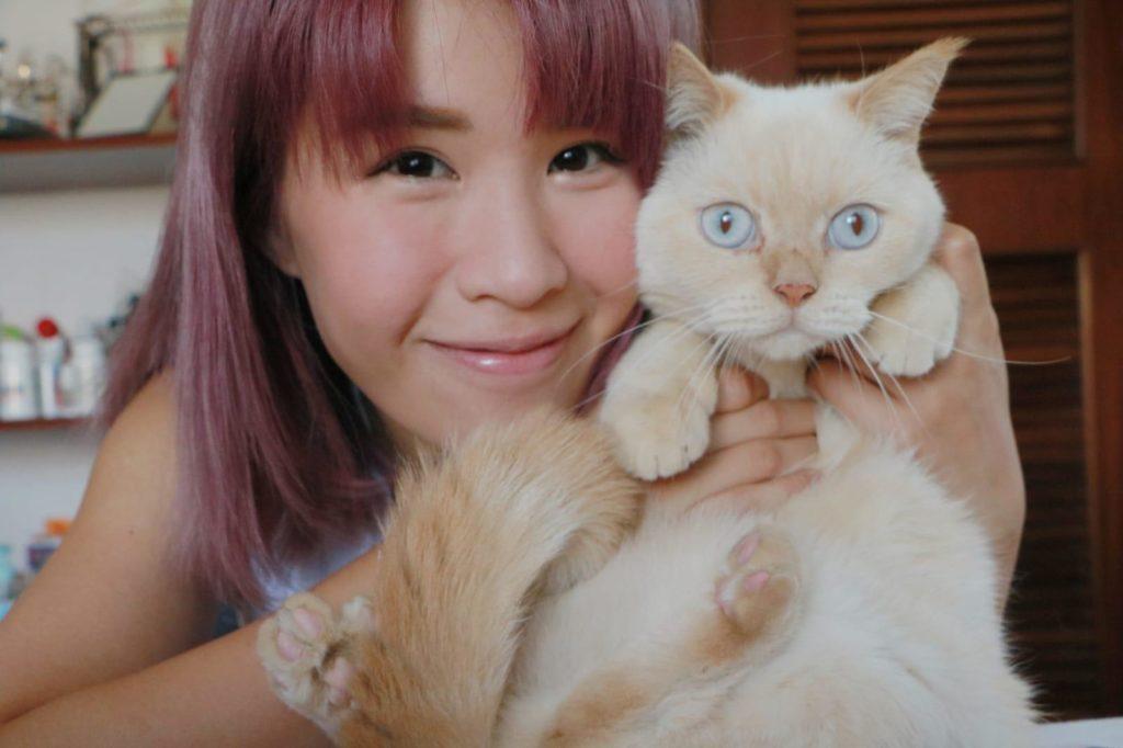 思迦家裏養了三隻貓,貓狗住在同一屋簷下,總算相處到,有時更會合作搞破壞。
