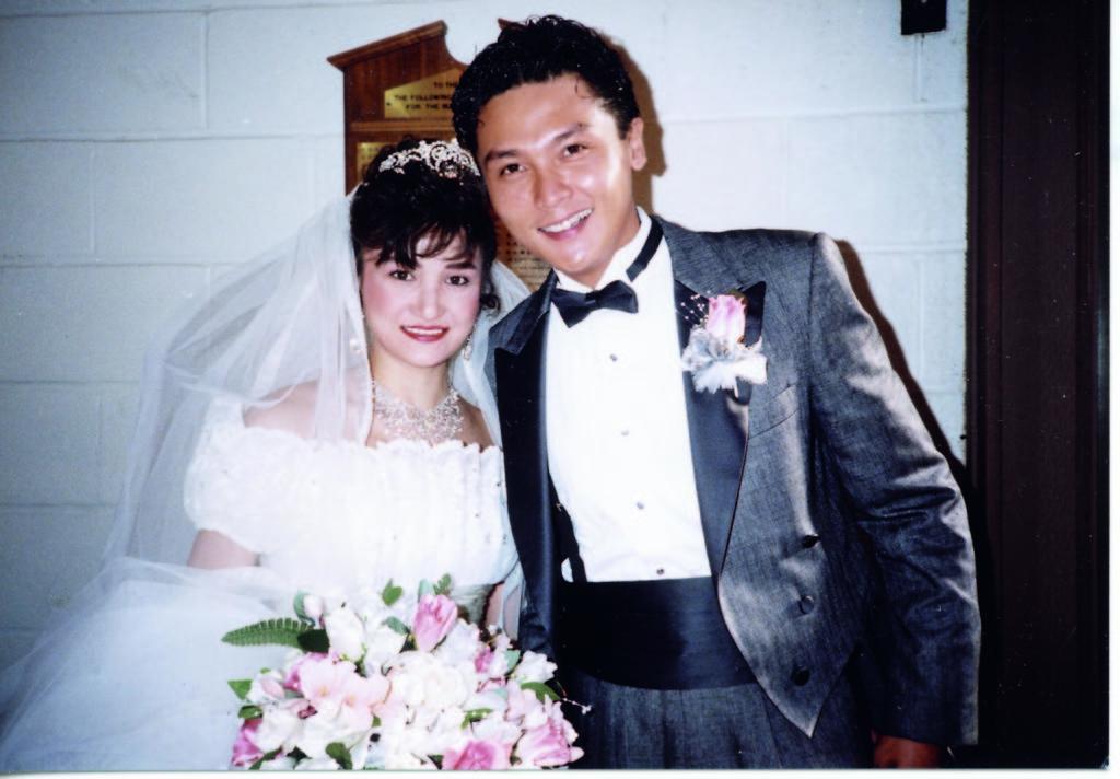 今年是關禮傑與太太Anna結婚廿八周年,兩人結識至今已有三十五年。