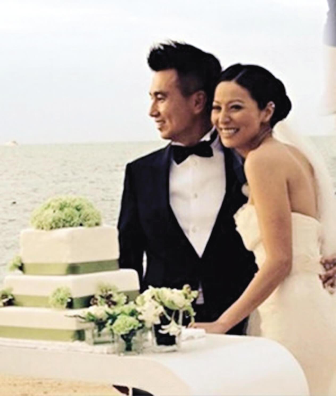 二〇一三年和朱建崑結婚,她說兩人的相處愈來愈好。