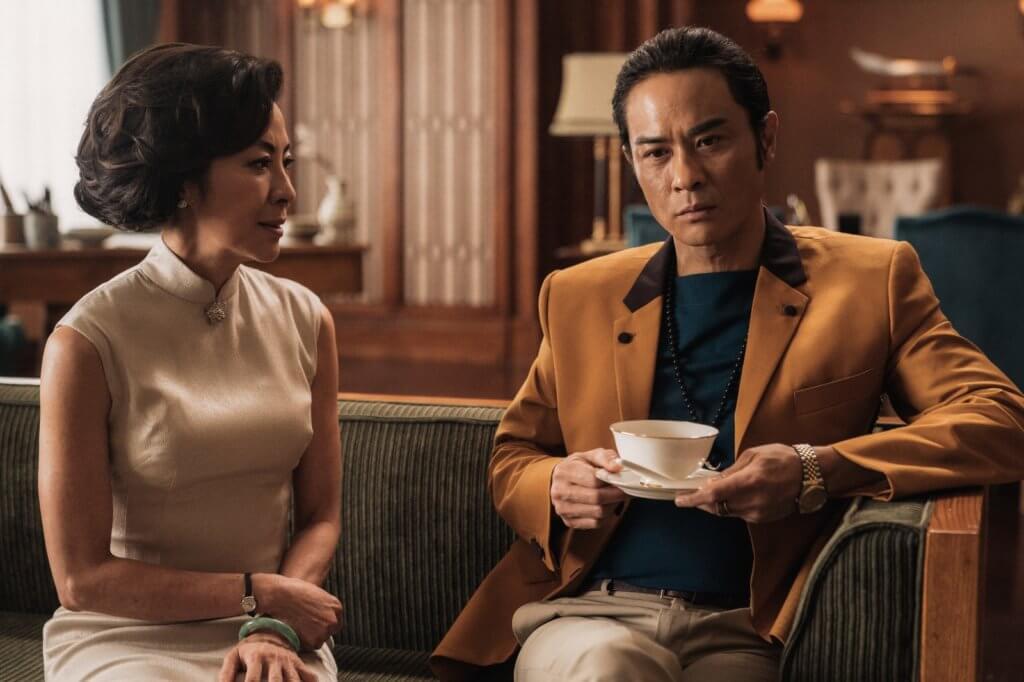 破格演奸角的嘉穎,與楊紫瓊飾演兩姊弟,片中他不滿爸爸將社團交給家姊。