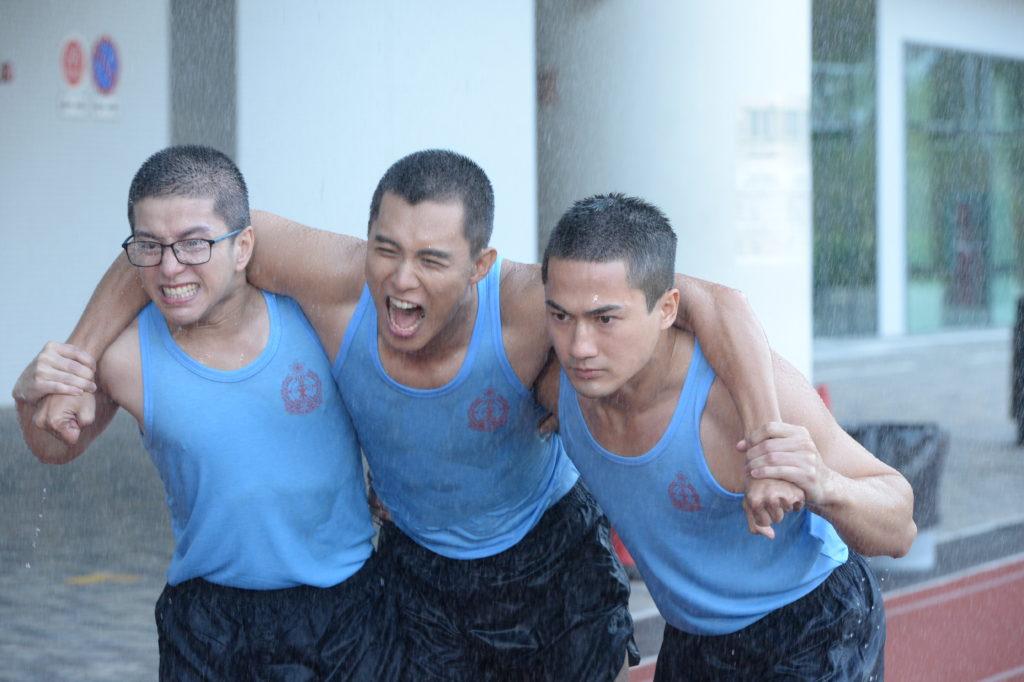 何廣沛、張彥博和郭子豪在劇中是出生入死好兄弟,惜最後阿博意外死亡。