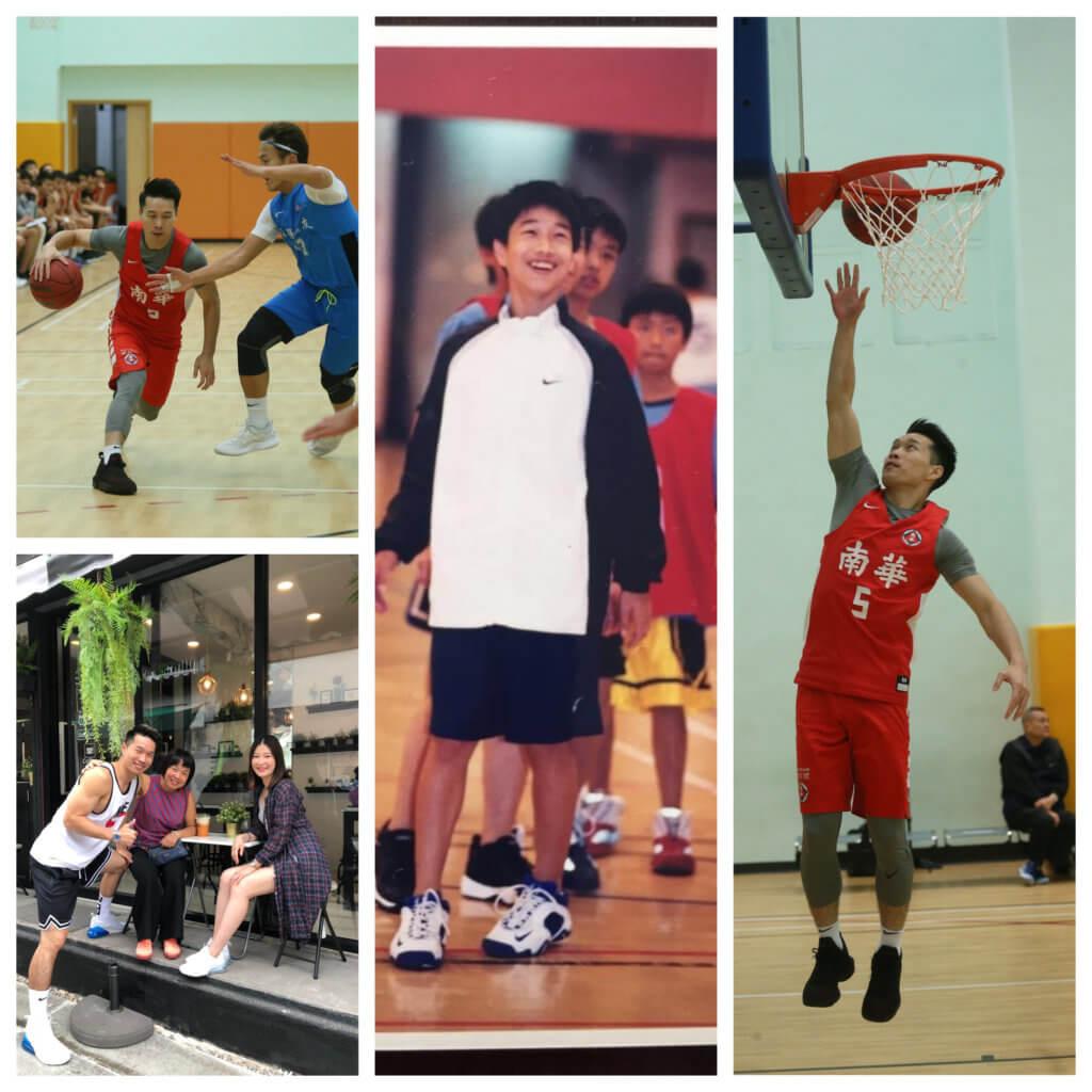 羅意庭十七歲加入南華籃球隊,對南華有一份感情和責任。