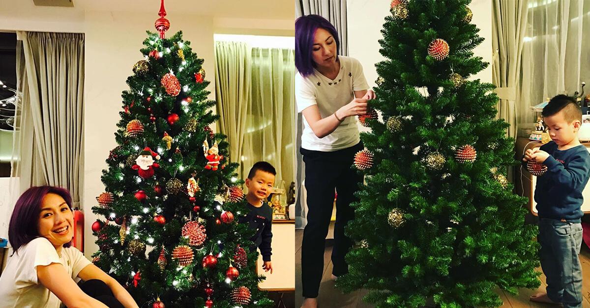 每年千嬅都會和小到布置聖誕樹