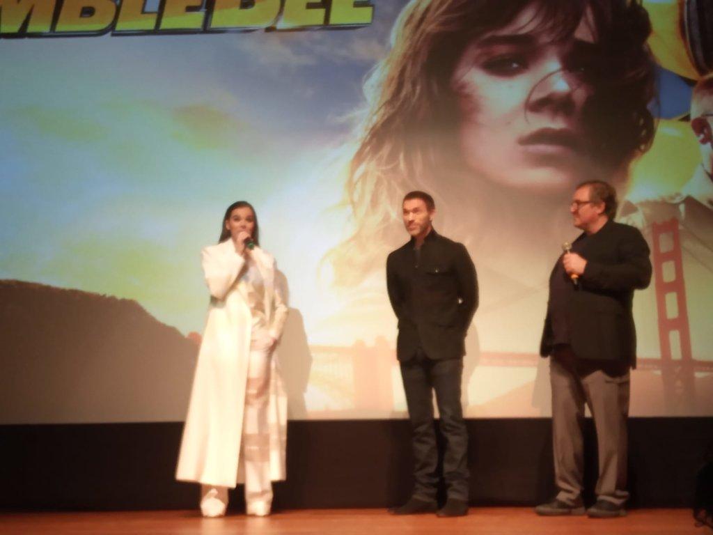 希莉辛菲日前聯同導演查費斯奈捷及監製羅倫素來港,出席CineAsia試映會。(攝影:張一明)