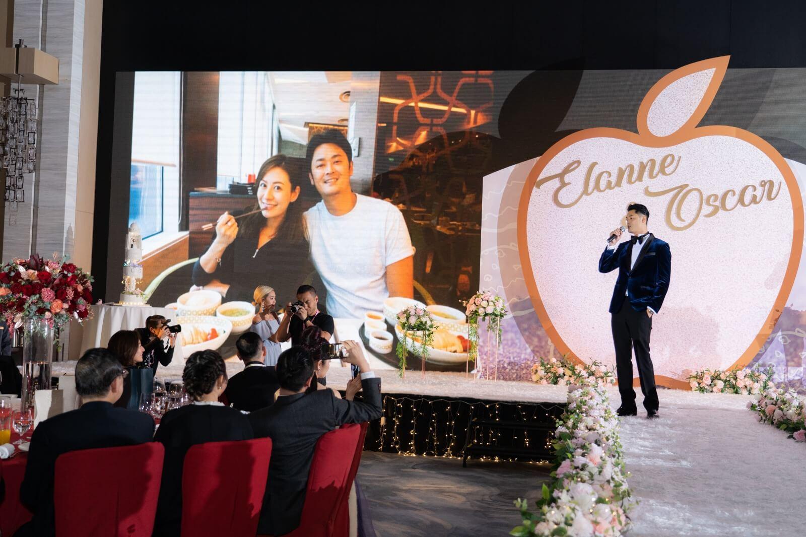Elanne很開心老公實現了她的願望,在台上公開唱歌,這首《今生今世》,令Elanne非常感動。