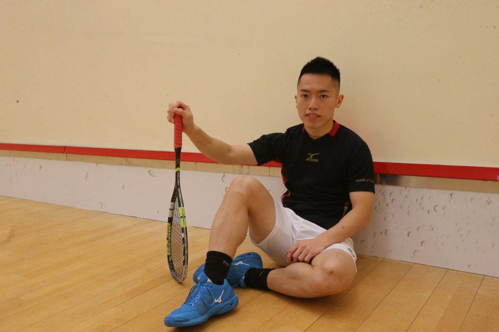 歐鎮銘小學開始打壁球,經過多年努力終於取得亞運金牌。