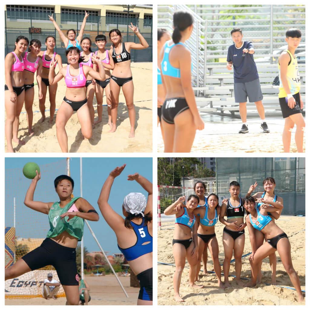 為了爭取代表香港出賽的機會,女孩子們努力練習。