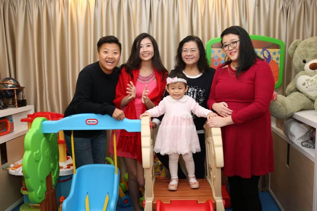 趙哲妤有媽媽、姊姊和妹妹做後盾,女兒在愛中成長。