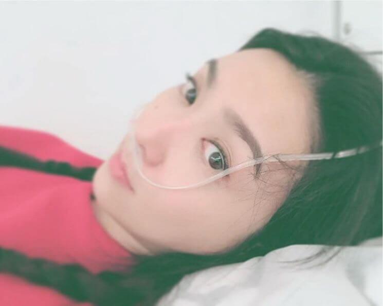 薛凱琪早前患上感冒,更接受氧氣治療,幸好目前已漸漸康復。