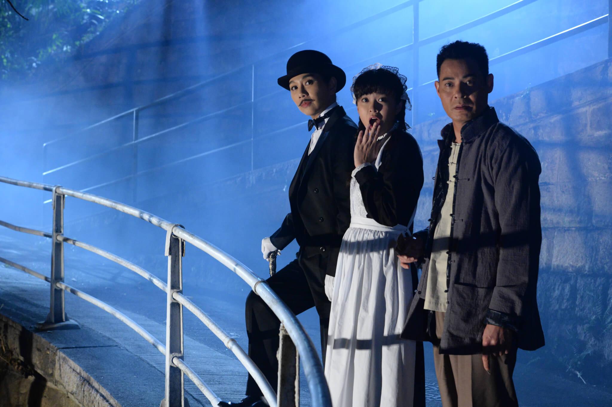 劇中松松與江嘉敏及黃智賢有不少對手戲,為了查案更反串紳士。