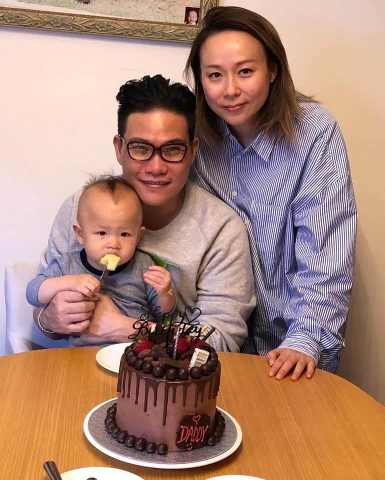 太太和兒子為蘇永康慶祝生日