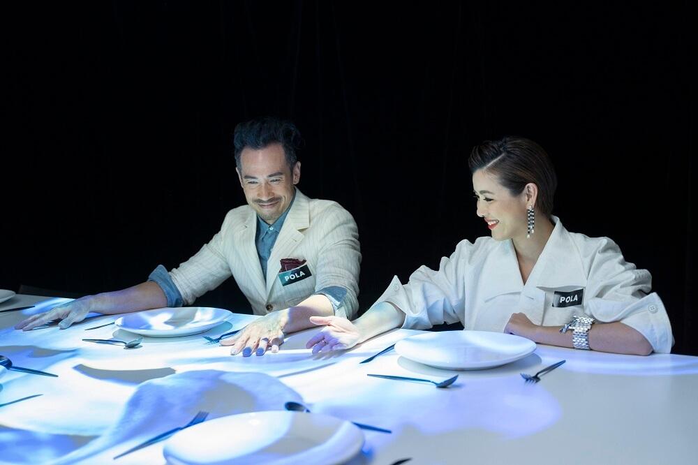 展覽設有Art Dinning 光影藝術體驗,讓參觀者如享用一場「食得的」美麗盛宴。