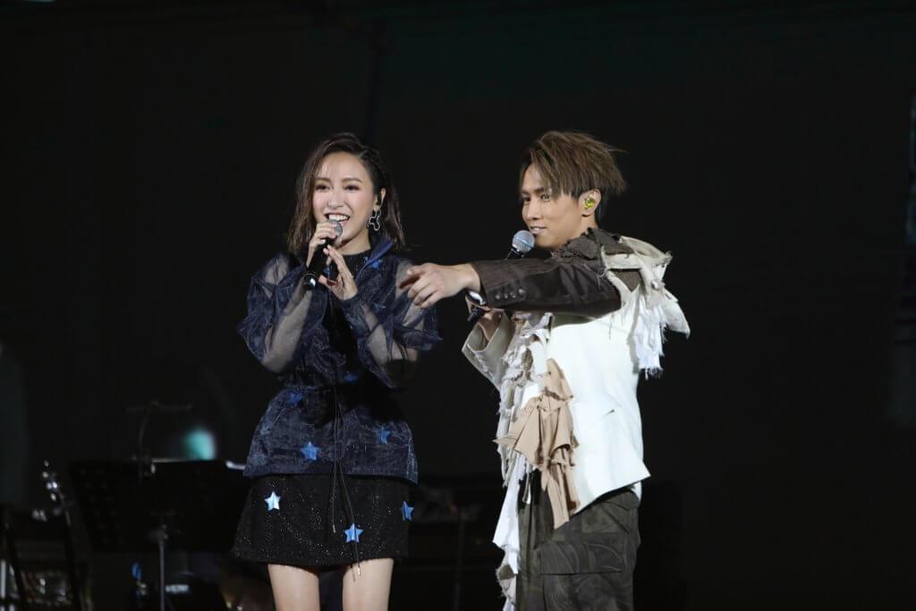 早前在廣州開騷的他,請來好友葉巧琳擔任嘉賓。