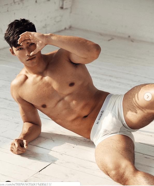 身形Fit爆的他,即獲內褲品牌垂青,邀他拍攝廣告。