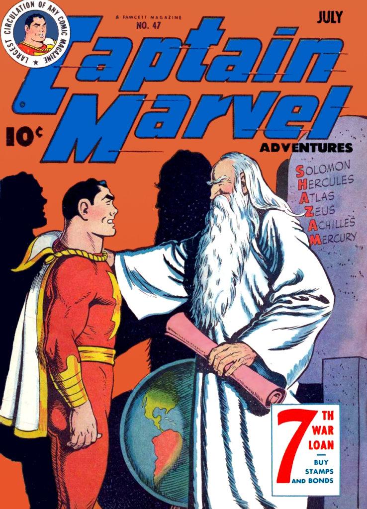 漫畫版《沙贊》原本叫《Captain Marvel》