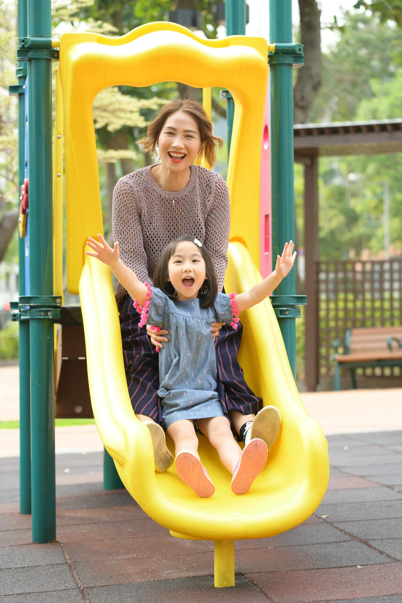 袁彩雲表示女兒快將升小一,性格相當活潑好動。
