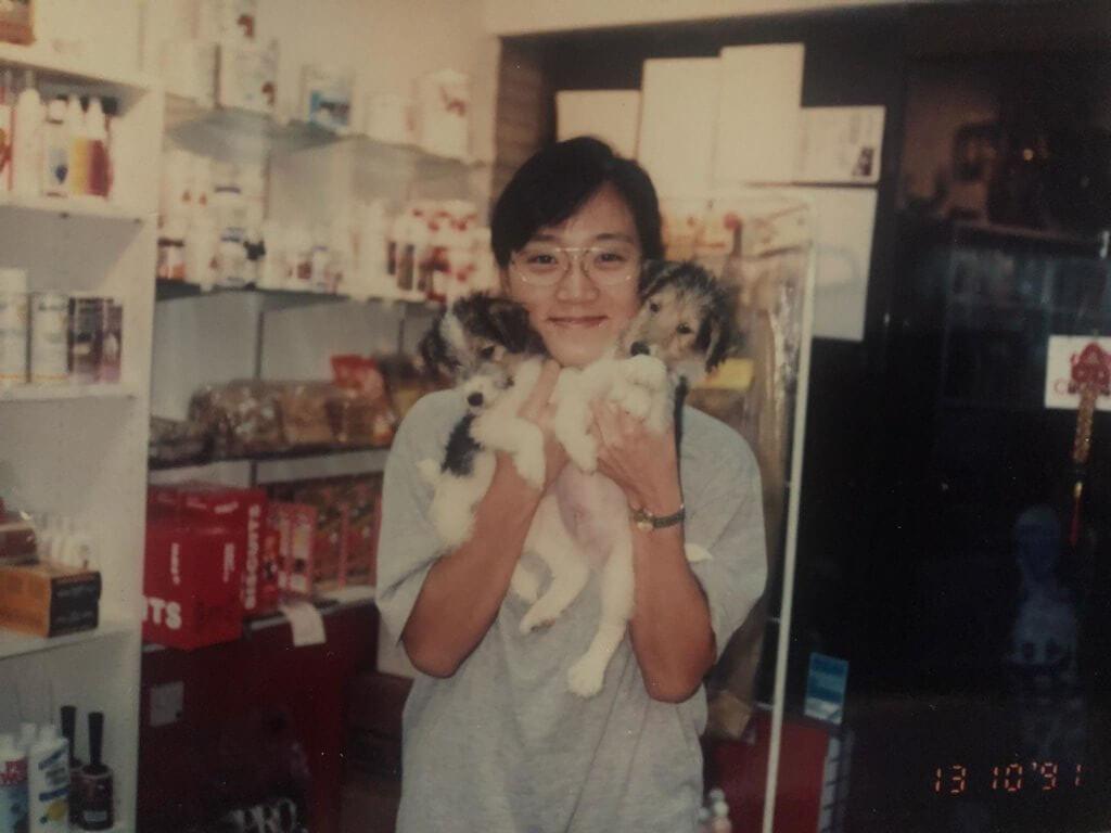 曾慧雲與男友經營了一間寵物美容店,一做便廿多年,直至去年才將生意結束。