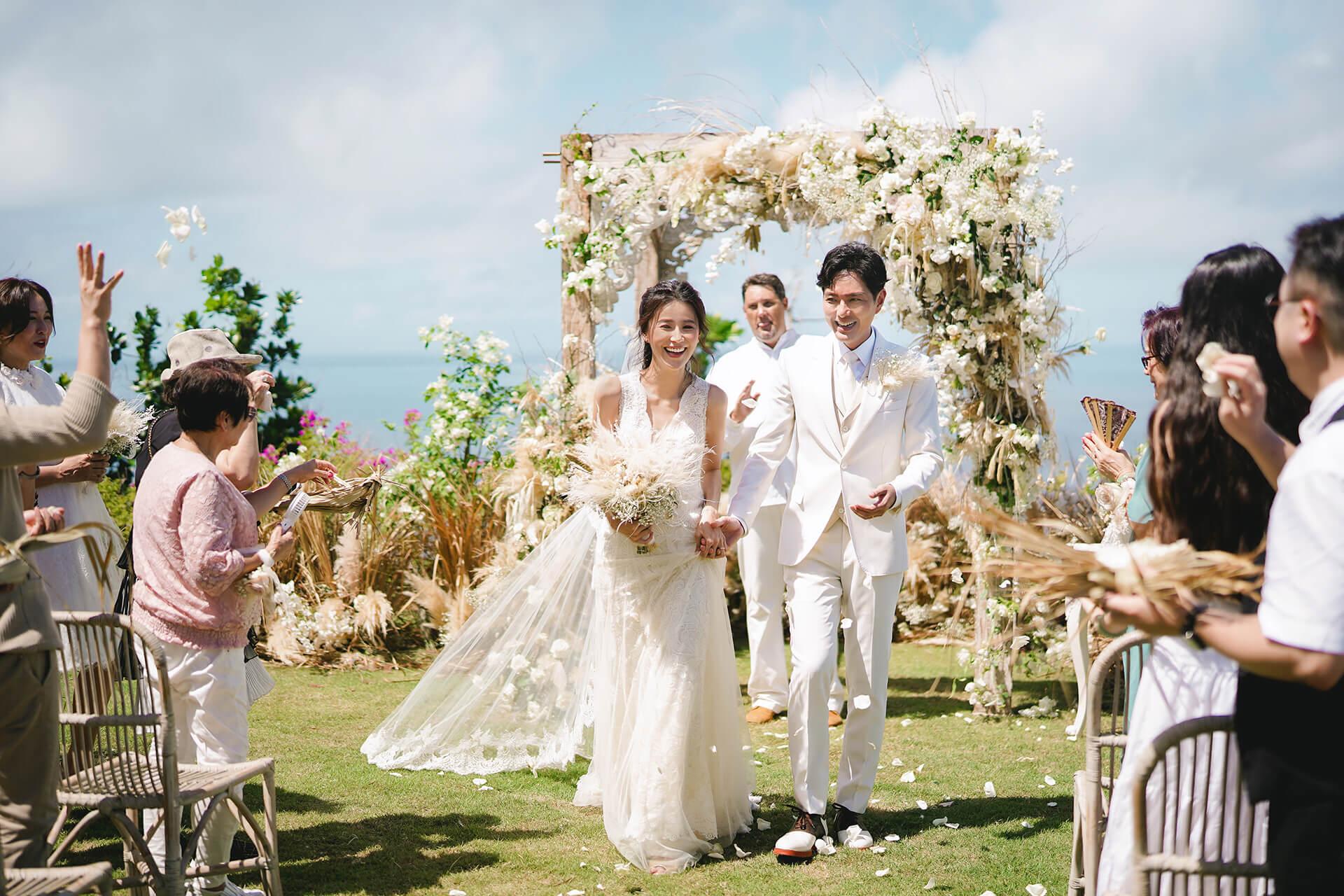 婚禮上,兩人除了攜手相約並肩走這輩子,更約定下輩子再廝守。