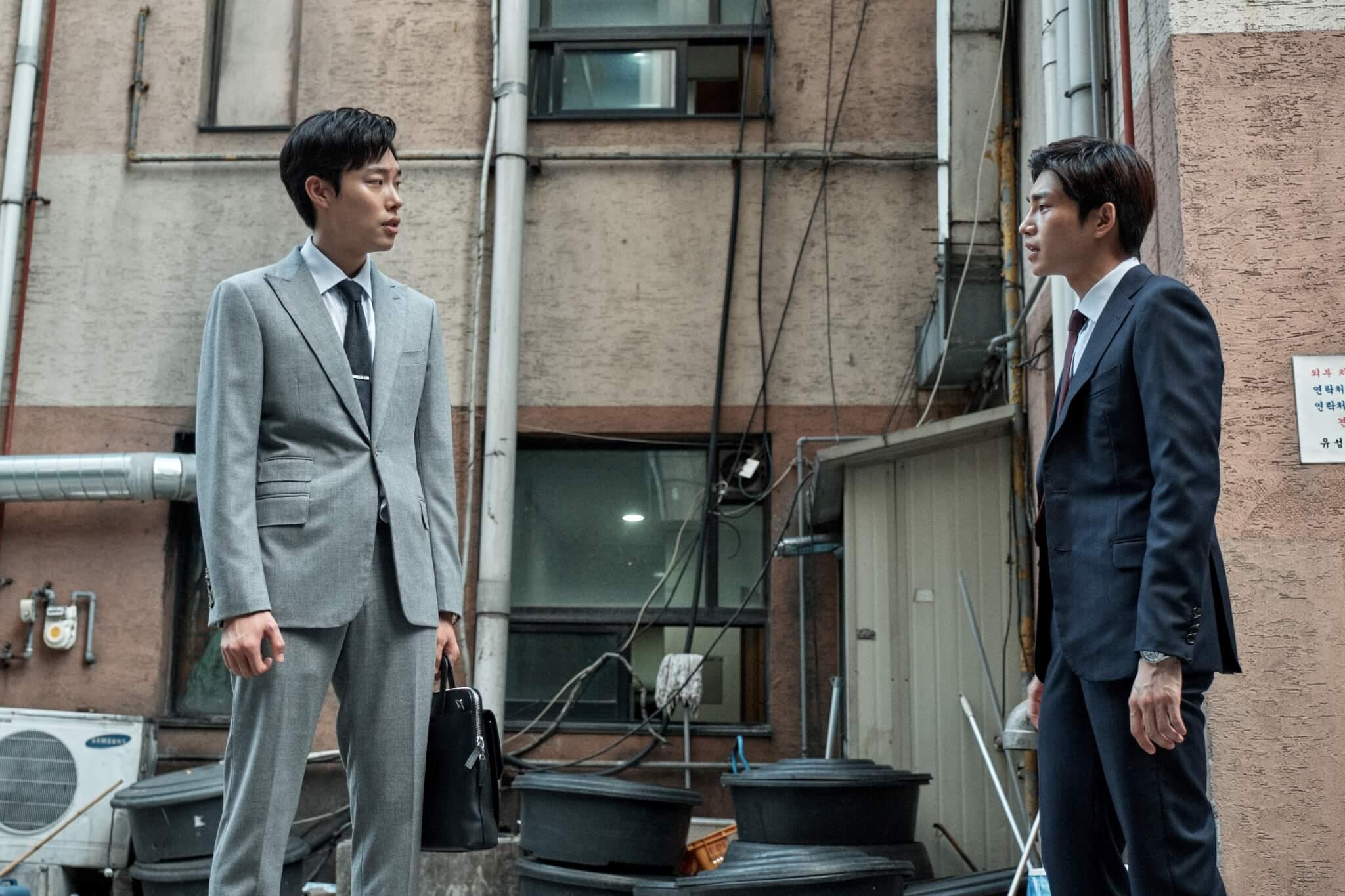 《百日的郎君》男星金宰英飾演柳俊烈的朋友,也是柳俊烈在證劵公司唯一的摰友,一度對立。