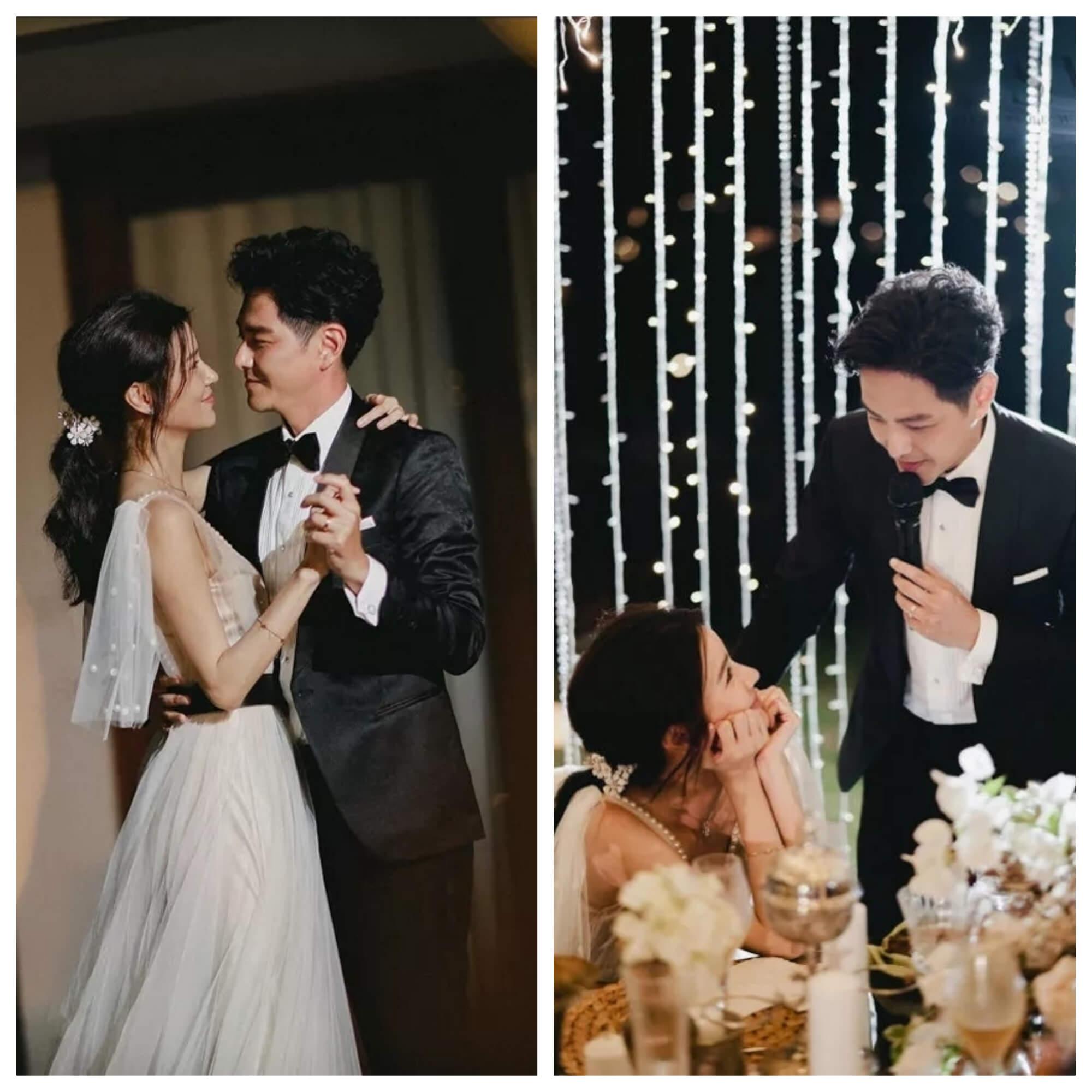 婚宴上兩人共舞,翠如對老公的一言一語都表現出陶醉的模樣。