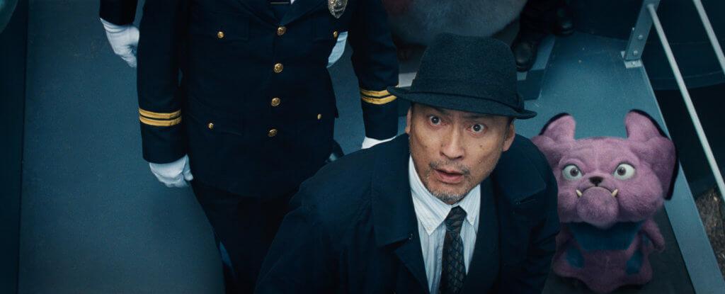 日本男星渡邊謙飾演探員,他的伙伴是兇神惡煞的布魯。