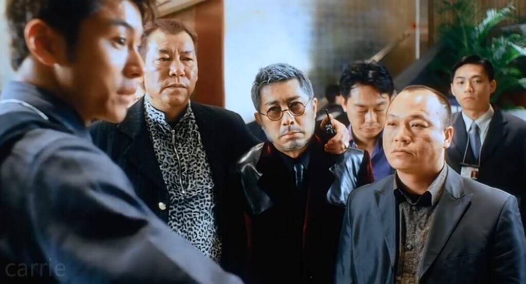 葉景文在電影《新紮師妹》飾演黑幫大佬,其造型充滿喜感。