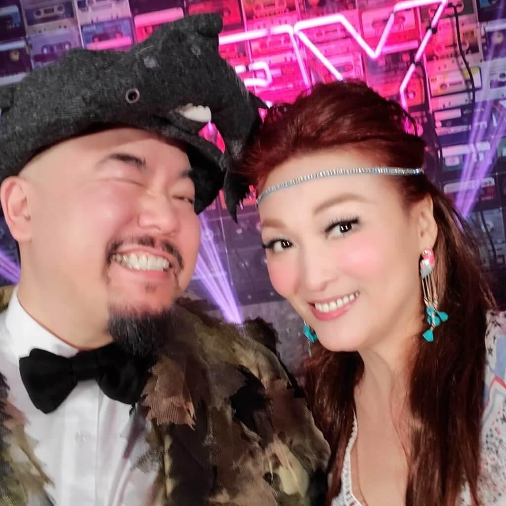 李蕙敏以嬉皮士造型出席黃偉文生日派對