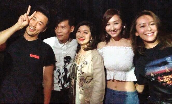 鄧智偉是林峯的唱片監製及演唱會音樂總監,高Ling和他們有開心碰頭。
