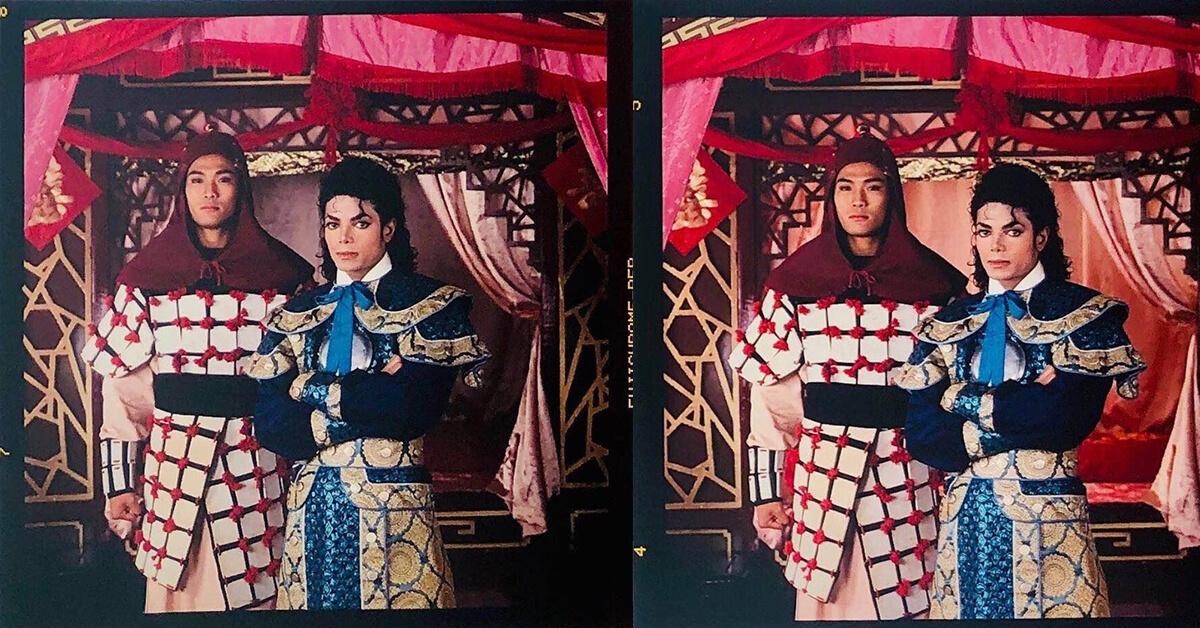 台灣MJ歌迷會的會長訪問了當年拍攝這組照片的MJ御用攝影師John Isaac,找到了這兩張照片。