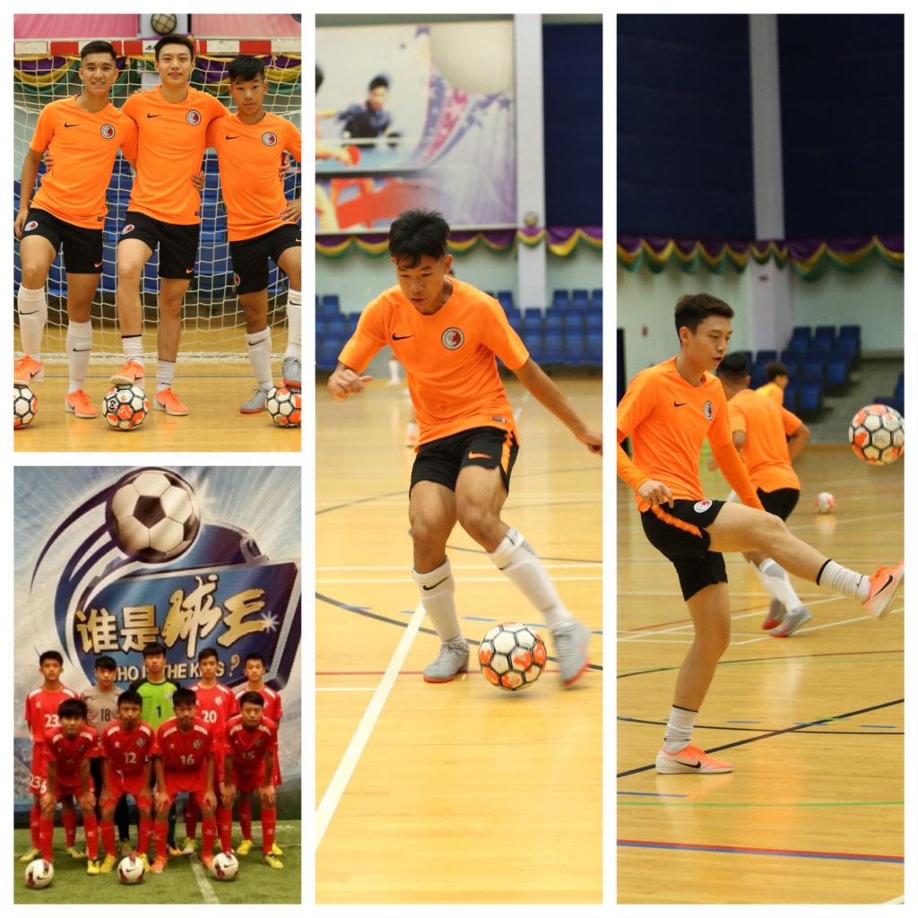 鄭俊華與袁世傑、劉穎笙對足球充滿熱情。