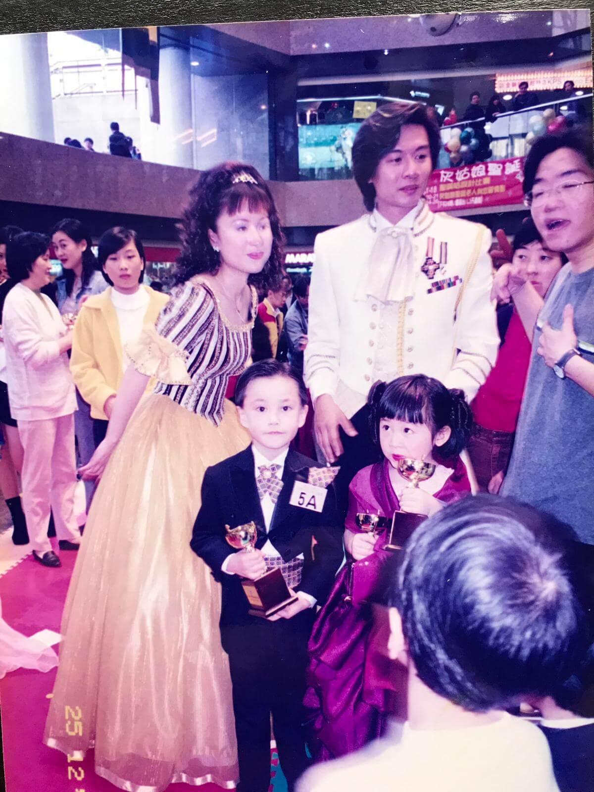 Brian五歲時曾參加比賽得「最英俊王子獎」