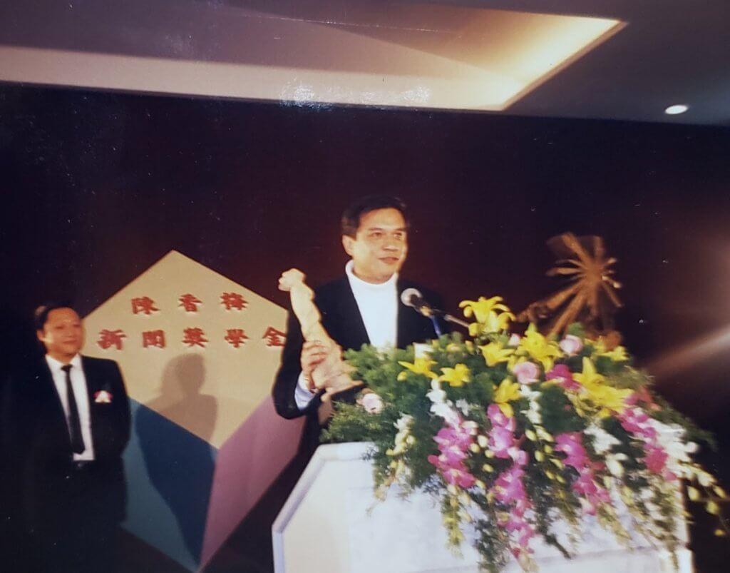 黃栢文執導的《霹靂先鋒》,被中時晚報評為最佳電影,他親身赴台領獎。