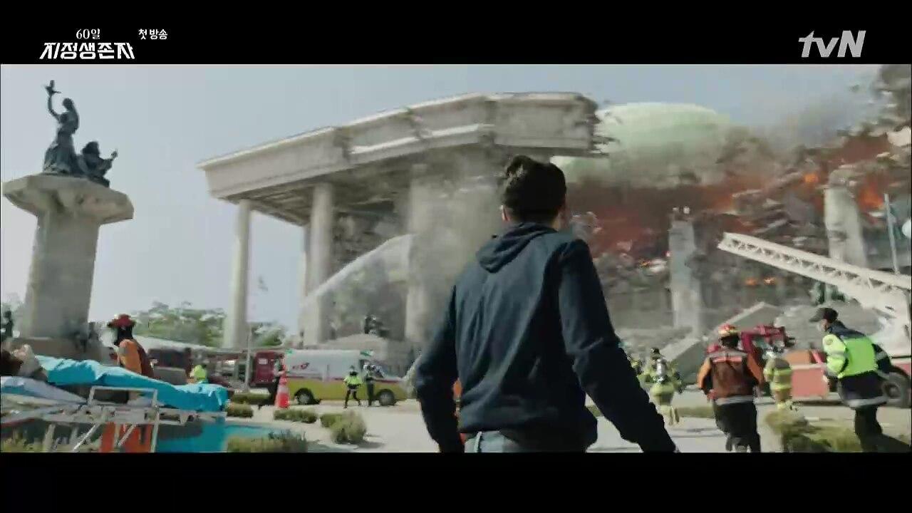 《指定倖存者》利用電腦特技打造災難場面,相信此畫面是每個南韓人的恐懼!