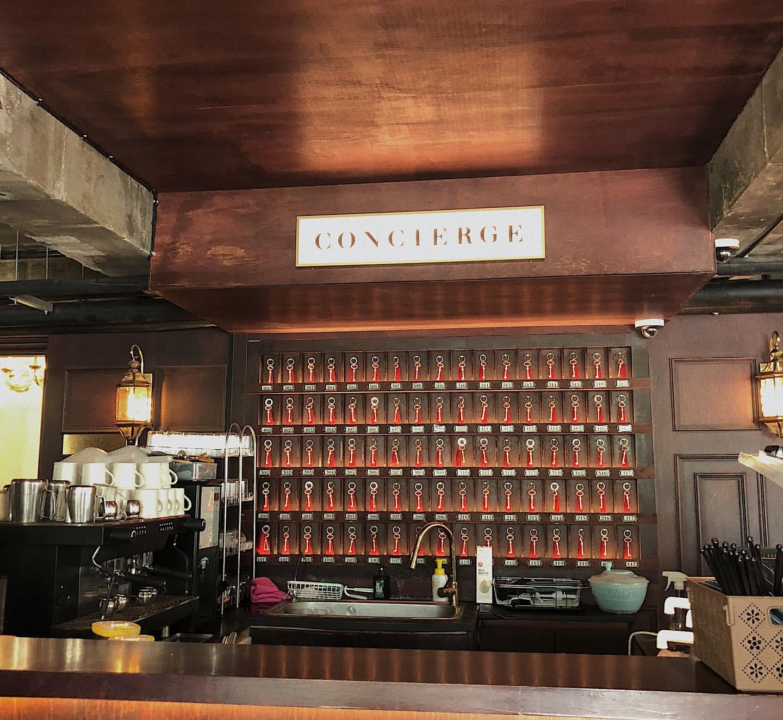 前台位置實為咖啡店沖咖啡的地方