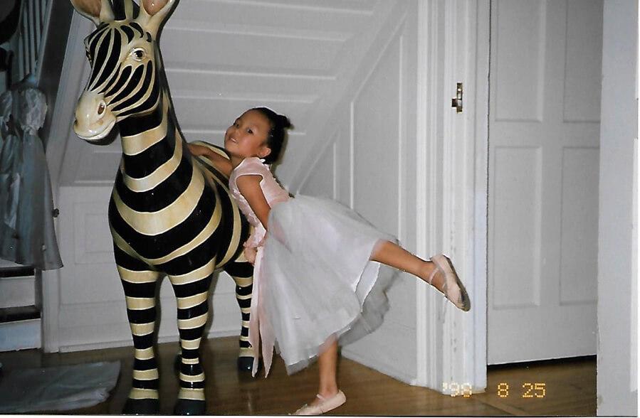小時候的蘇韻姿,參加過不少興趣班,表演慾強。
