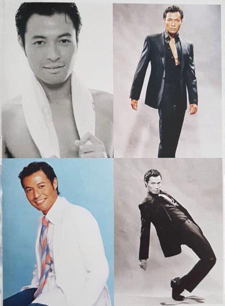 做模特兒時的簡介照片,通常在廣告中扮成功男士。