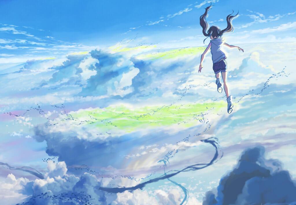 影片畫面美不勝收,女主角陽菜擁有改變天氣的奇妙能力。