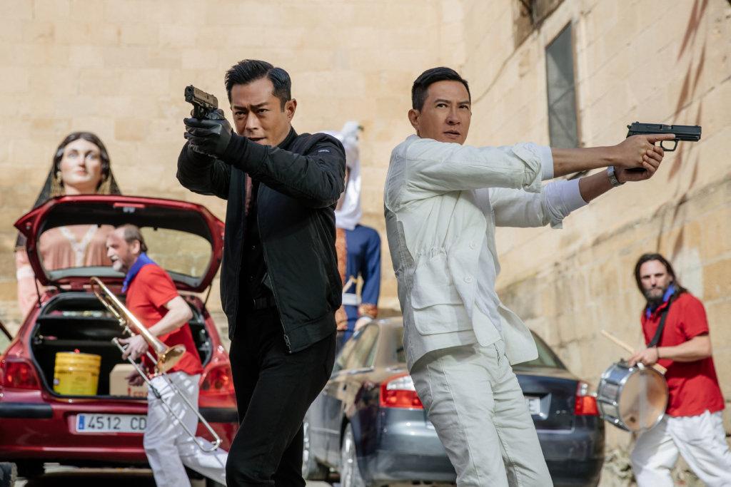 張家輝與古天樂在戲中連場動作,二人都盡量親自完成。