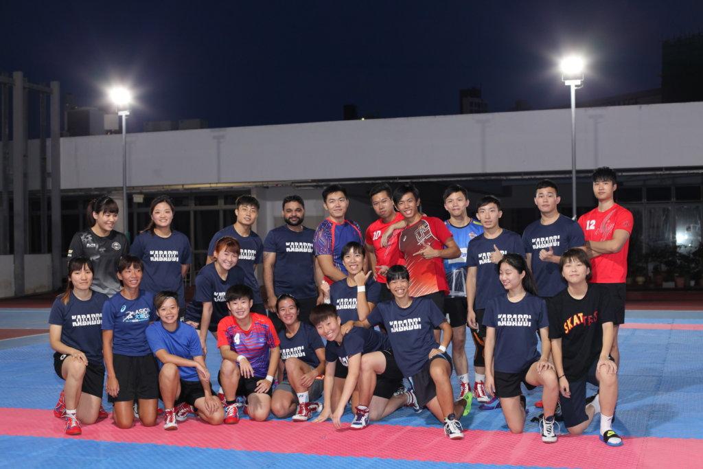 香港卡巴迪代表隊以不服輸的精神,爭取實戰經驗。