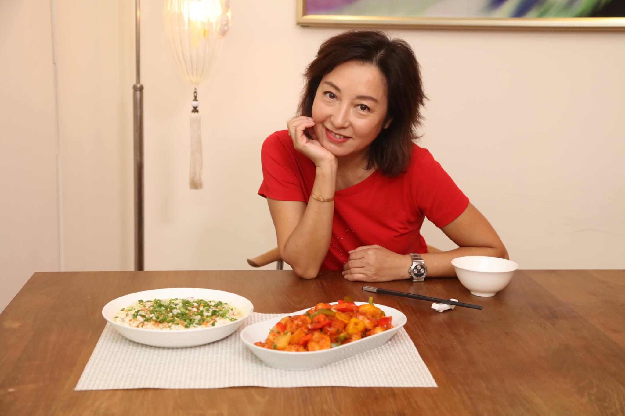 兩餸再煲一個靚湯,黎明詩每天的晚餐就是清淡簡單。