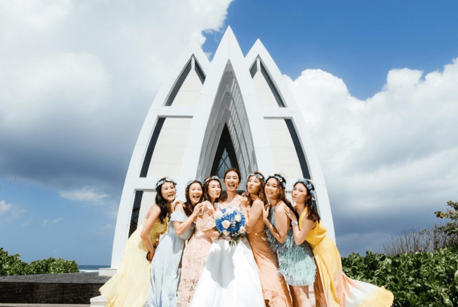 岑杏賢、湯洛雯、張嘉兒、劉倩婷、李雪瑩及蔣家旻伴Tracy出嫁