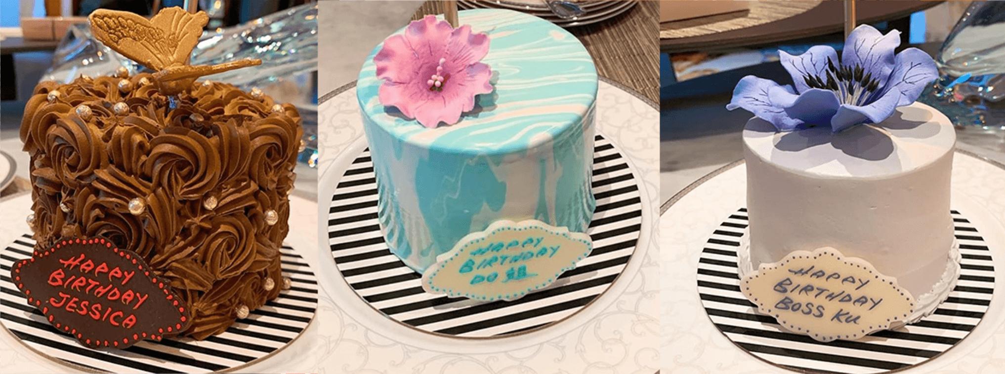 為壽星送上三個蛋糕