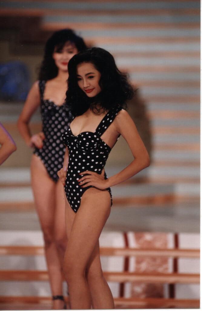 楊玉梅九○年參加亞姐,其中一個獎是最完美體態獎。
