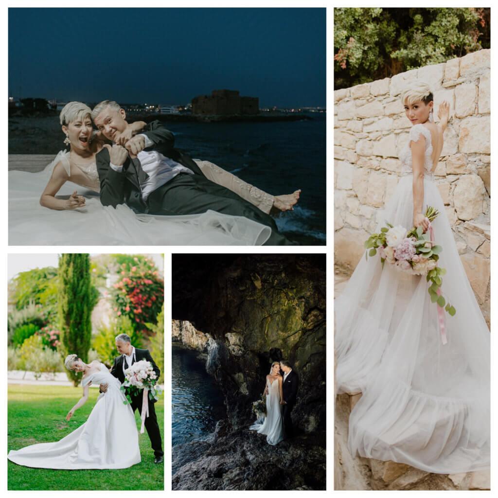 陳鈺芸和未來老公在「愛神之島」拍攝婚妙照。