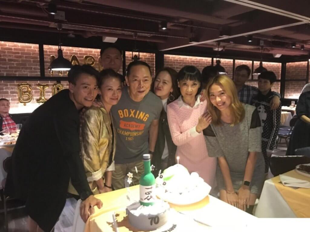 去年羅樂林七十大壽,三個女兒、女婿陳志健、前妻陳寶儀為他準備驚喜生日會。