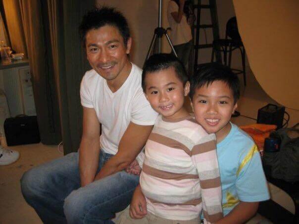 Jacky仔在電影《童夢奇緣》中,飾演劉德華年輕版的弟弟。