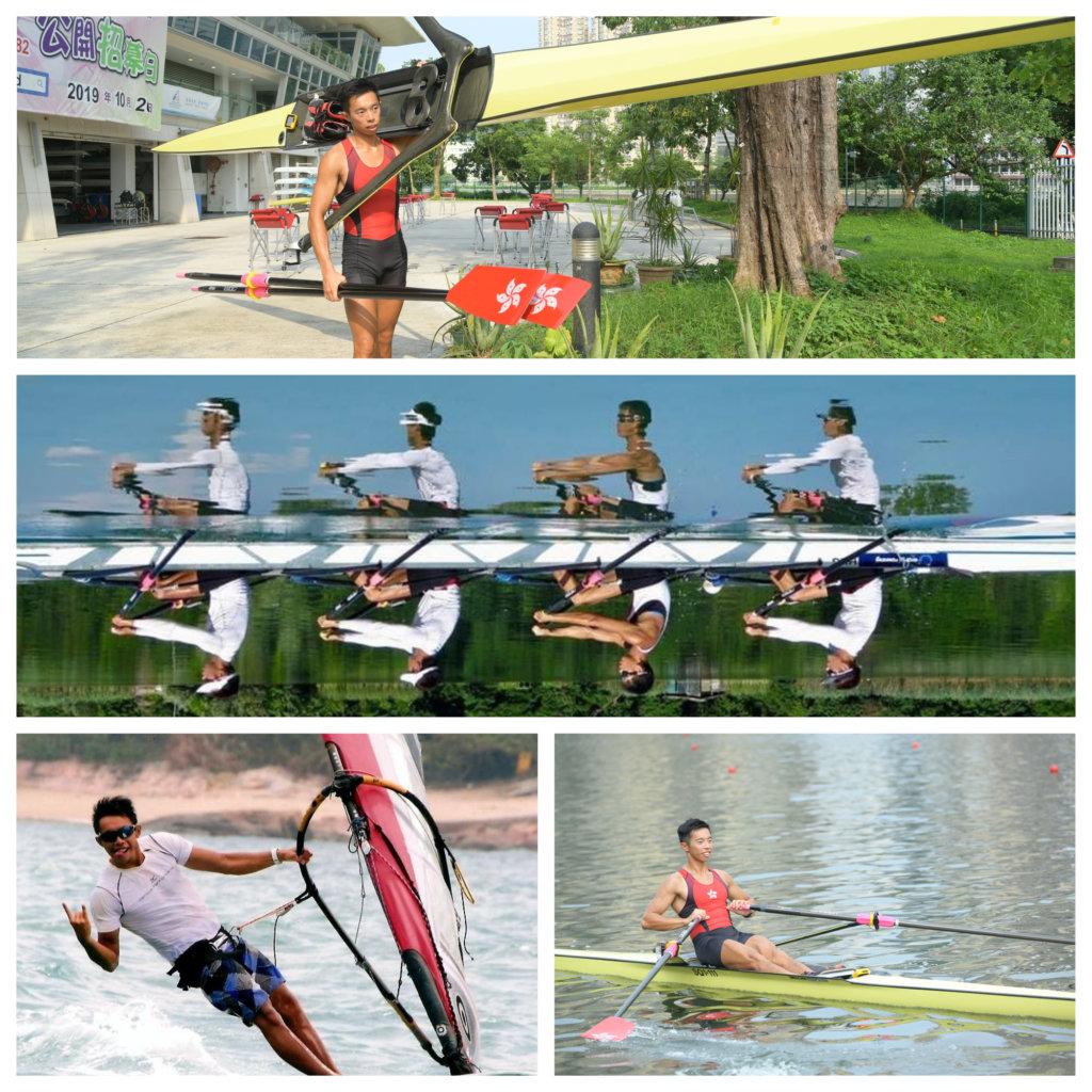 趙顯臻一六年曾代表香港參加奧運會,令他對划艇運動更有抱負。