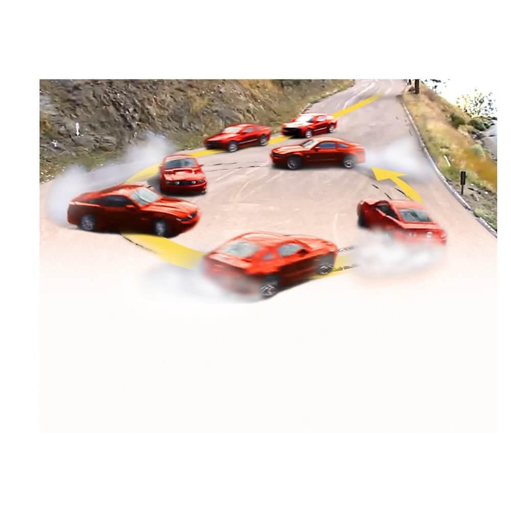 甩尾飄移是如何煉成的?飄移是一種駕駛技巧,又叫「甩尾」,有别於一般的賽車速度競技,着重於油門與方向盤的控制,在入彎前加速,入彎時鬆油門並同時猛切方向盤,通過油門控制使尾輪長時間保持在打滑的狀態,而前輪同時保持一定抓地力,令車尾以橫向走動,做出弧形擺動,形成各種車身美態。除了在表演場合可見到這種甩尾技巧,此技巧主要用於路況變化較大的賽車活動中,如越野賽及山路賽車等。